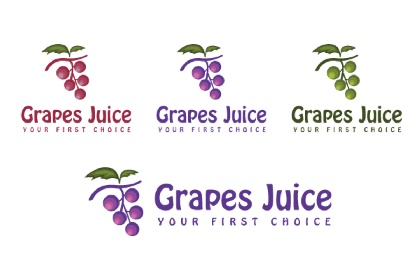 Grape Juice Logo Template