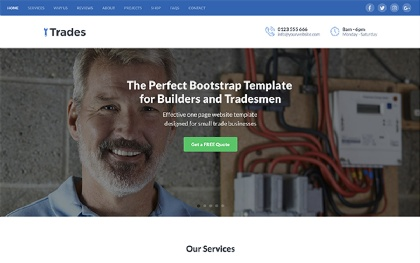Trades - For Builders (Bootstrap4)