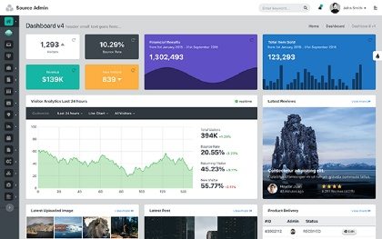Source Admin - Bootstrap Admin Template
