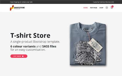 T-Shirt - Single-Product E-Commerce