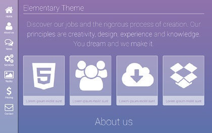 Elementary - One Page Elegant Theme