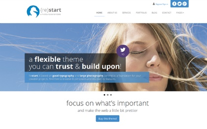 ReStart - Minimal Business Template Screenshot