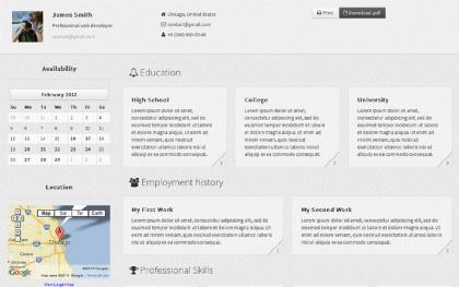 CV Gris - Resume Theme