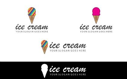 Colorful Ice Cream Logo Template