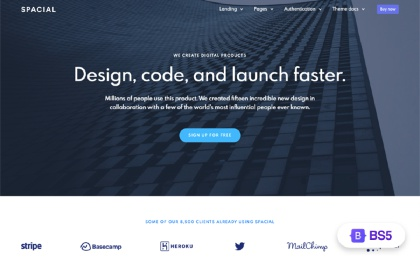 Spacial - Responsive Website Template