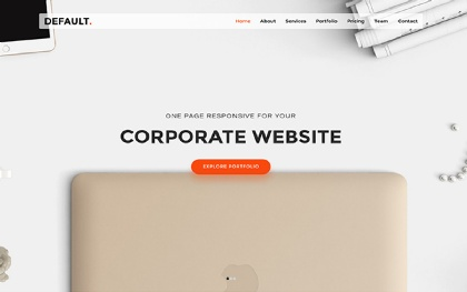 Default - One Page Responsive Template