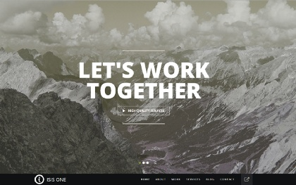 Isisone - Responsive One Page Template