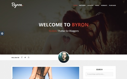 Byron - Modern WordPress Blog