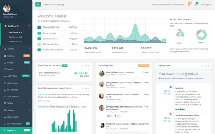 Admin Templates Dashboards WrapBootstrap - Simple dashboard html template