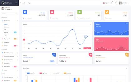 Guru Able - Bootstrap 4 + Angular 4 Admin