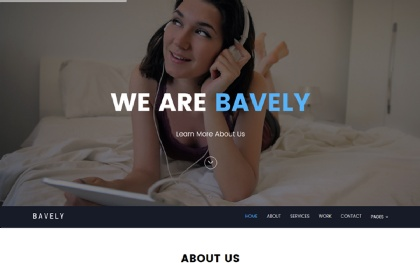 Bavely - Clean Minimal Onepage Theme