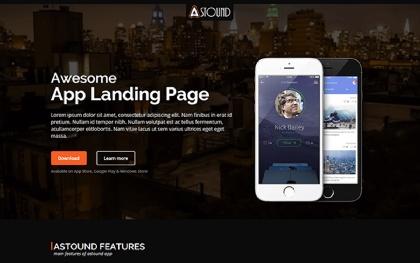 Astound - App Landing Page