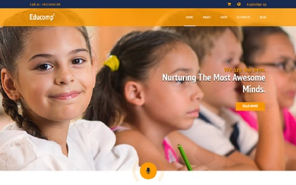 EDUCOMP Education Website Template + RTL