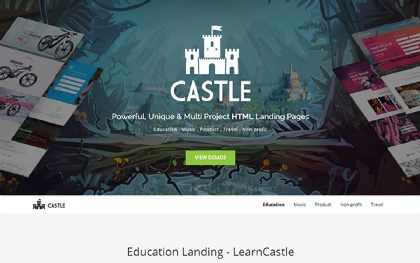 Castle - Multi Project Landing Pages