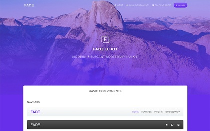 FADE - Bootstrap 4 UI Kit