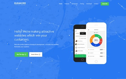 Eleanore - Flexible App Landing Page