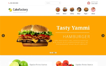 Cakefactory - Bootstrap Restaurant Theme