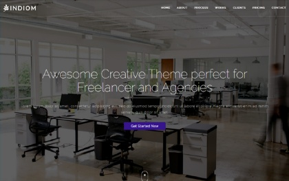 INDIOM - One Page Bootstrap Agency Theme