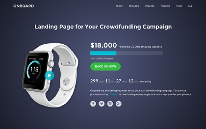 Onboard | Crowdfunding (Bootstrap4)