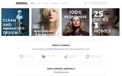 Minimal - Responsive E-Commerce Theme