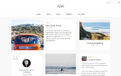 Ada - Personal Blog Template