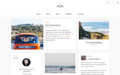 Ada - Personal Blog Template