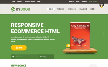 KYBook - Responsive Bookstore Theme