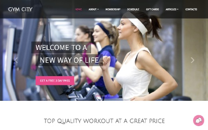 Gym City - Bootstrap 4 Template For Gyms