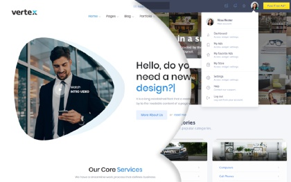 Express - Responsive Bootstrap Template
