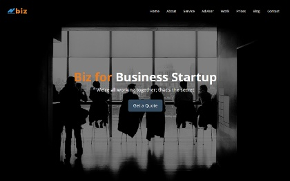 Biz - One Page Business Template