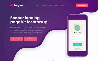 Sooper - Mobile, Desktop App Template