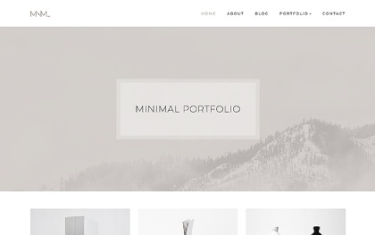 MNML - Minimal Portfolio Theme
