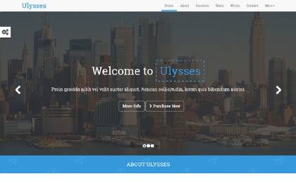 Ulysses - One Page Parallax Template